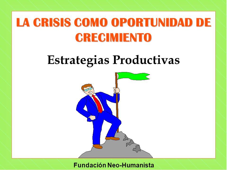 LA CRISIS COMO OPORTUNIDAD DE CRECIMIENTO Estrategias Productivas