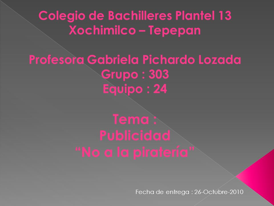 Colegio de Bachilleres Plantel 13 Profesora Gabriela Pichardo Lozada