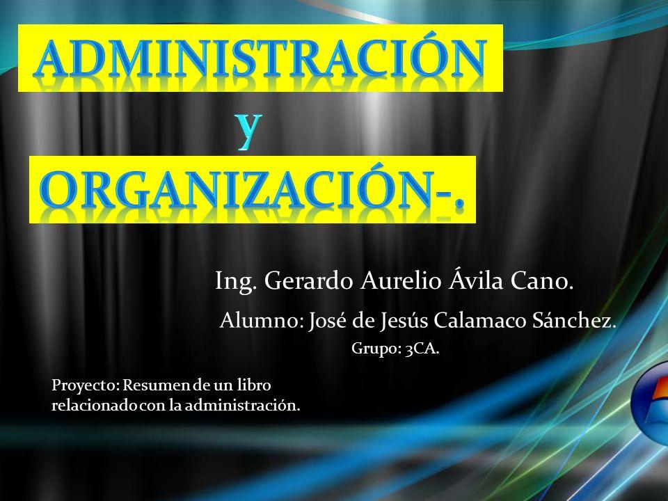 Administración y organización-.