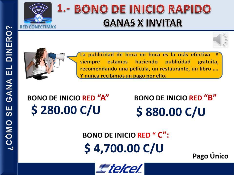 BONO DE INICIO RAPIDO $ 280.00 C/U $ 880.00 C/U $ 4,700.00 C/U