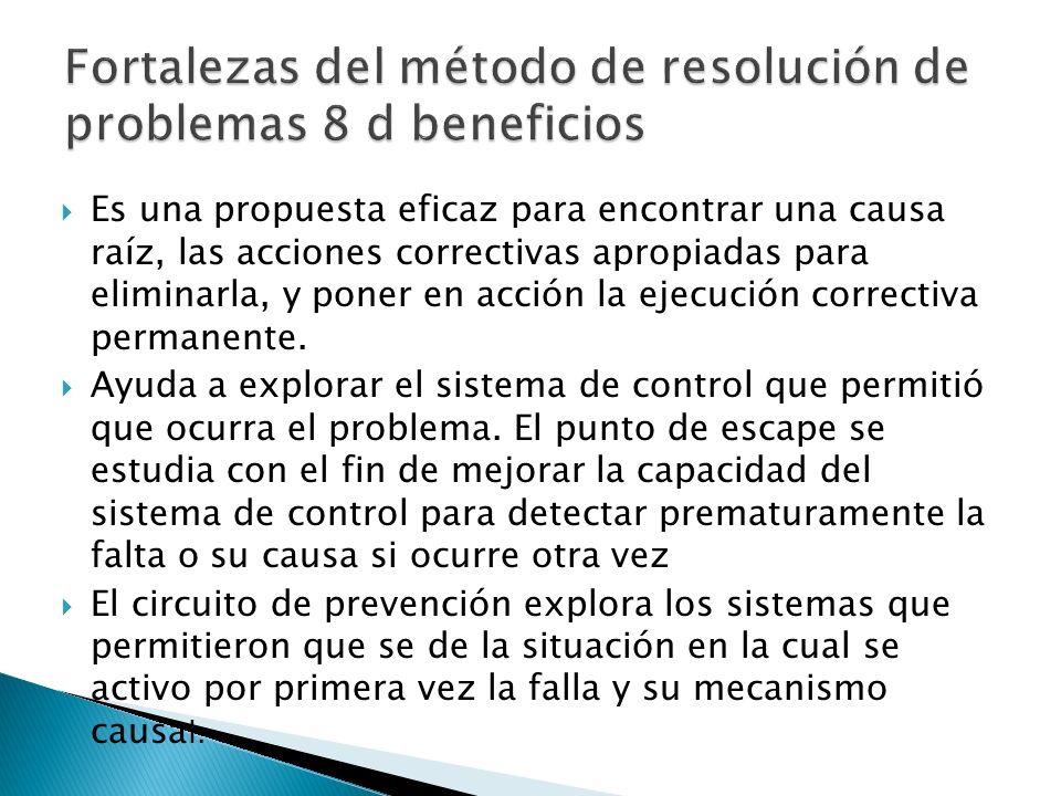 Fortalezas del método de resolución de problemas 8 d beneficios
