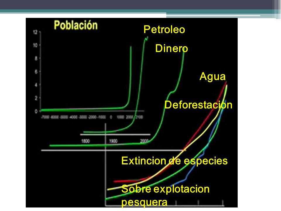Petroleo Dinero Agua Deforestacion Extincion de especies Sobre explotacion pesquera