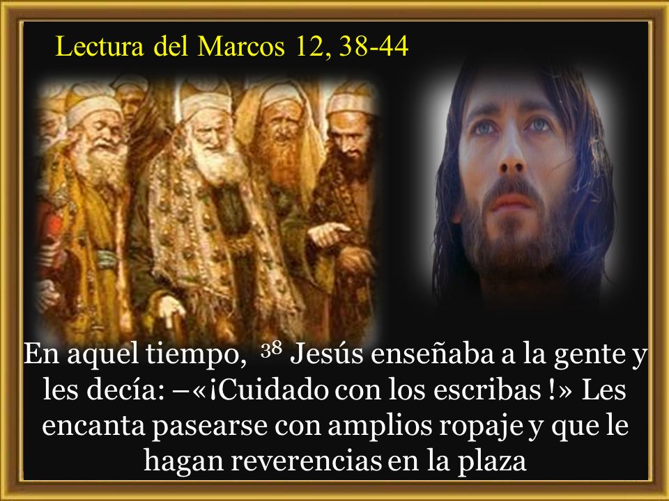 Lectura del Marcos 12, 38-44