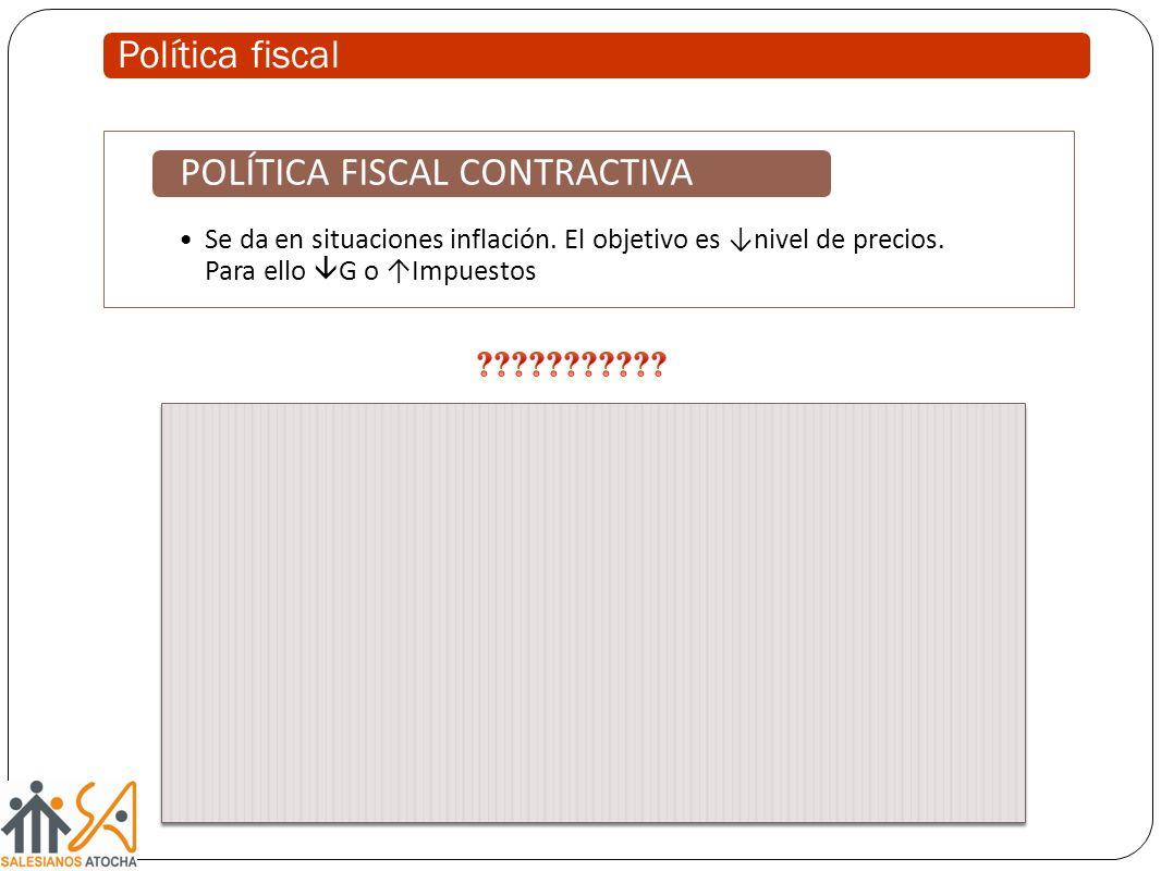POLÍTICA FISCAL CONTRACTIVA
