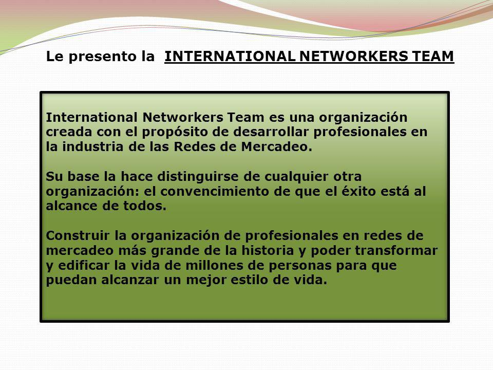 Le presento la INTERNATIONAL NETWORKERS TEAM