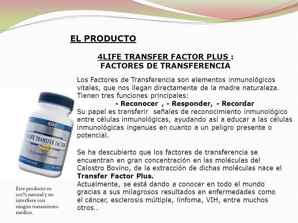 EL PRODUCTO 4LIFE TRANSFER FACTOR PLUS : FACTORES DE TRANSFERENCIA