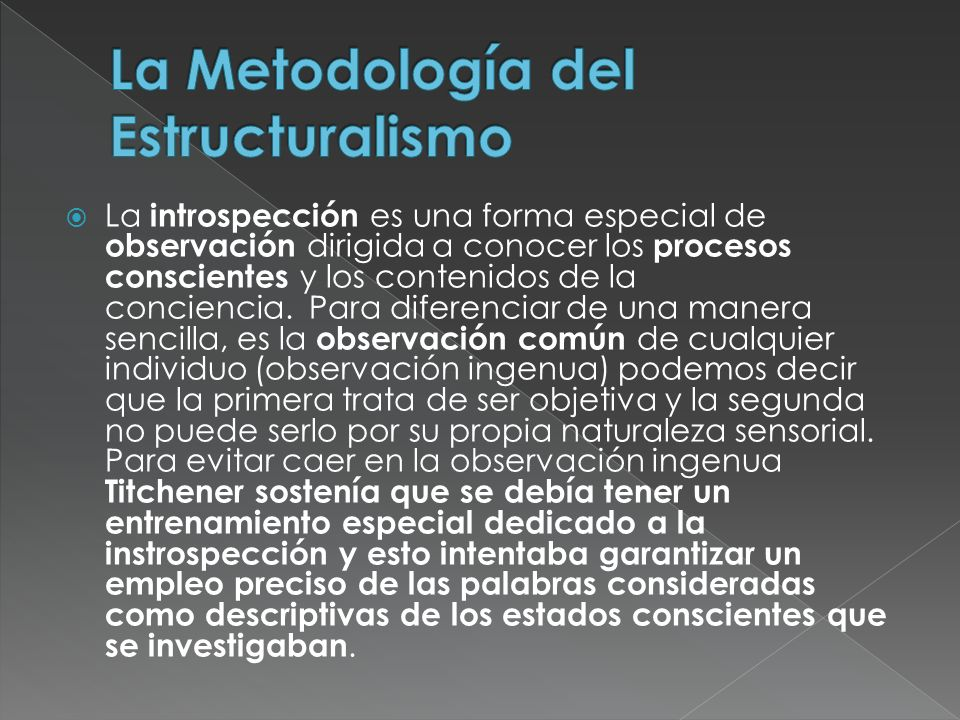 La Metodología del Estructuralismo