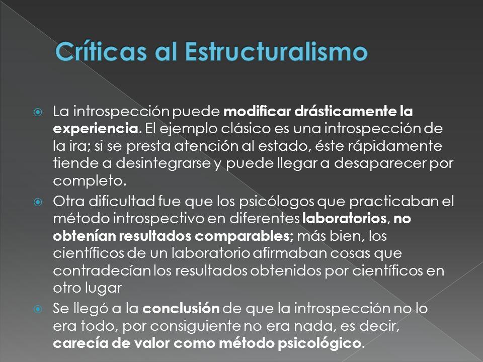 Críticas al Estructuralismo