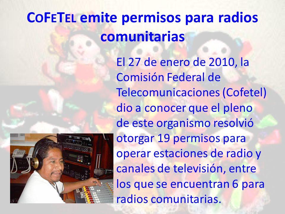 CoFeTel emite permisos para radios comunitarias