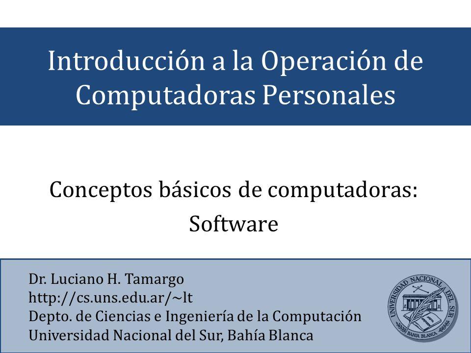 Introducción a la Operación de Computadoras Personales