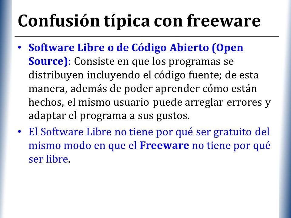Confusión típica con freeware