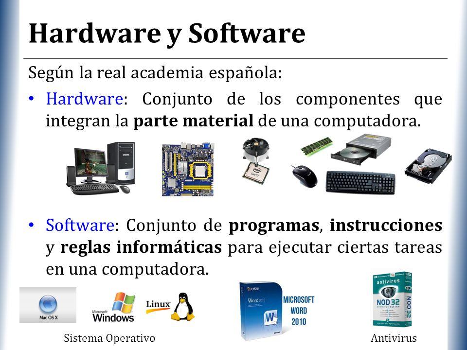 Hardware y Software Según la real academia española: