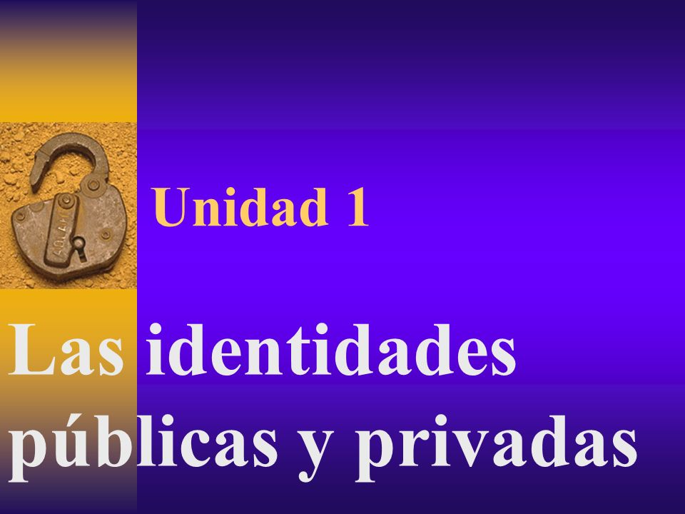 Las identidades públicas y privadas