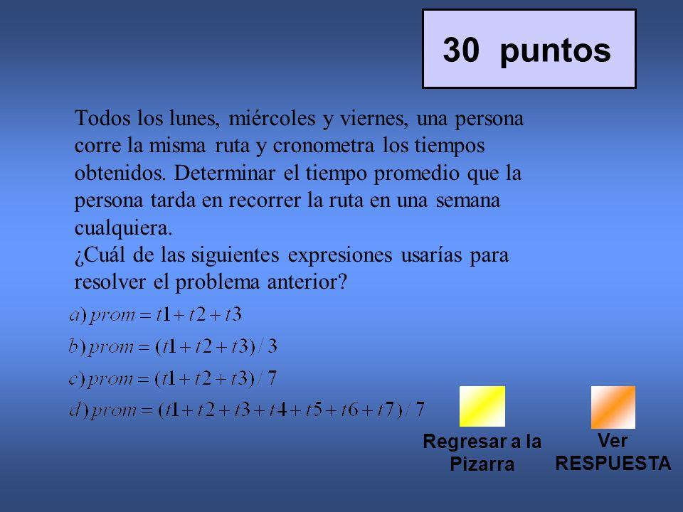 30 puntos