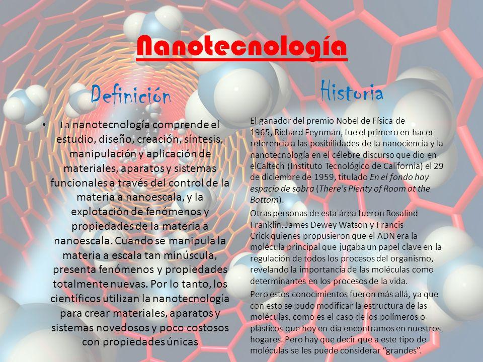 Nanotecnología Historia Definición