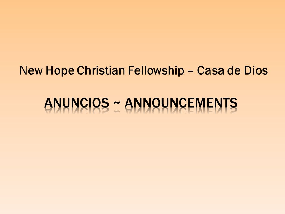 Anuncios ~ Announcements