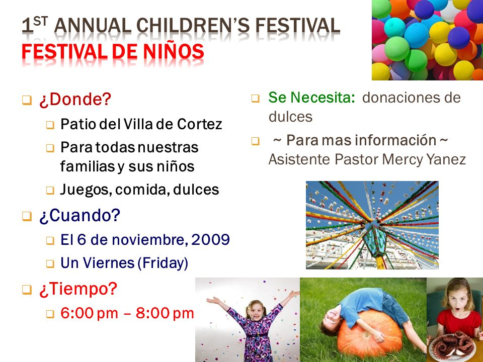 1st Annual Children's Festival Festival de Niños