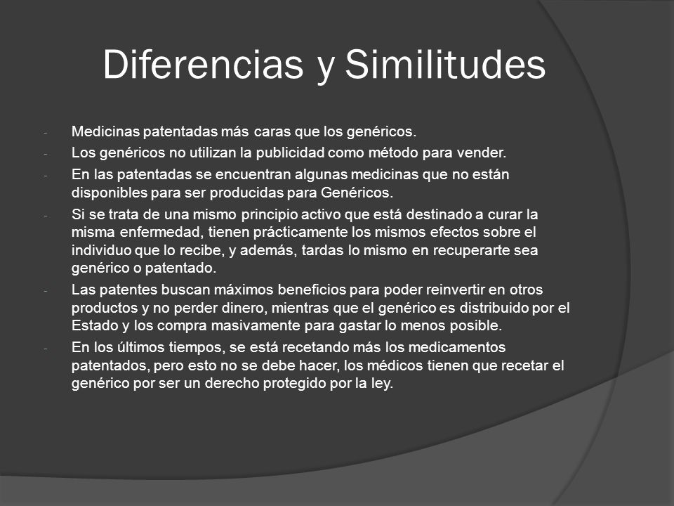 Diferencias y Similitudes