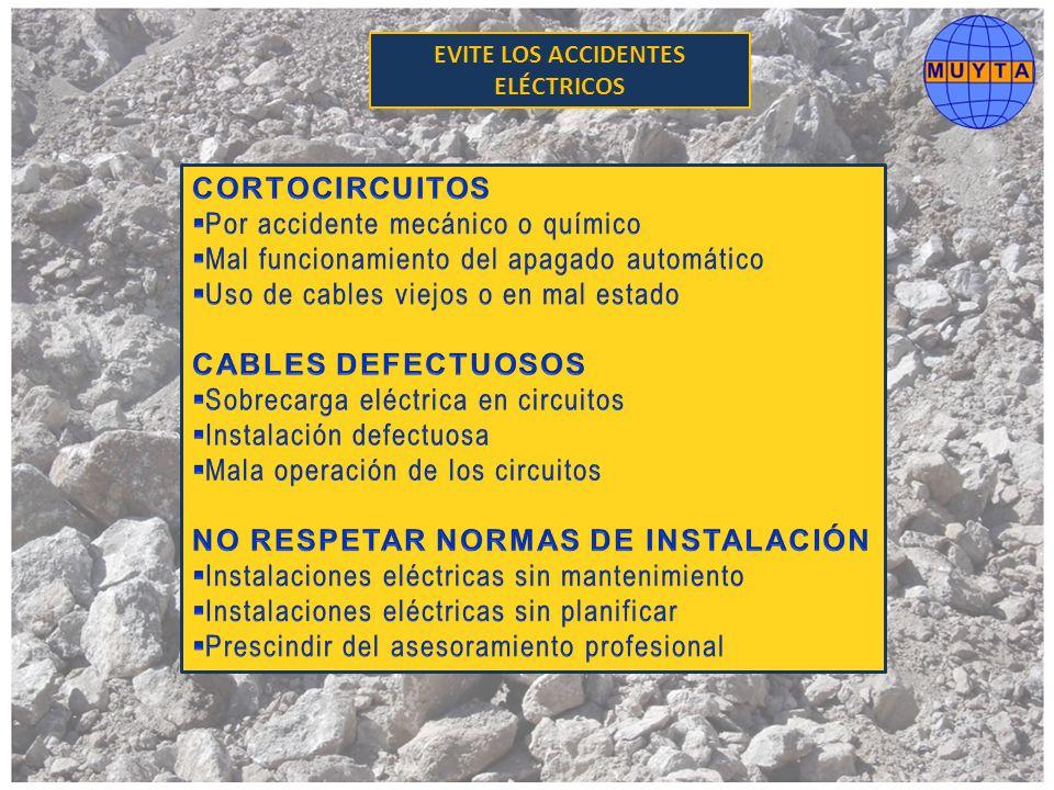 EVITE LOS ACCIDENTES ELÉCTRICOS