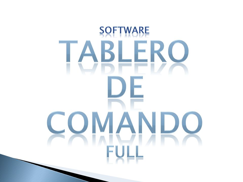 Software TABLERO DE COMANDO full