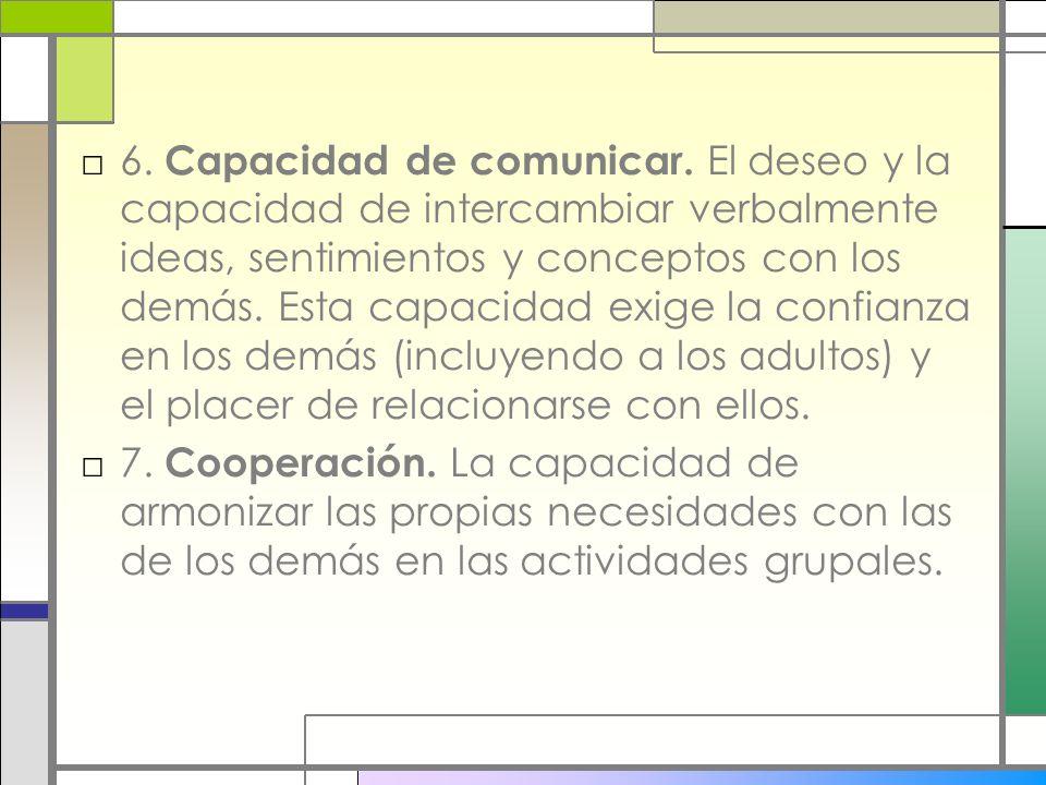 6. Capacidad de comunicar