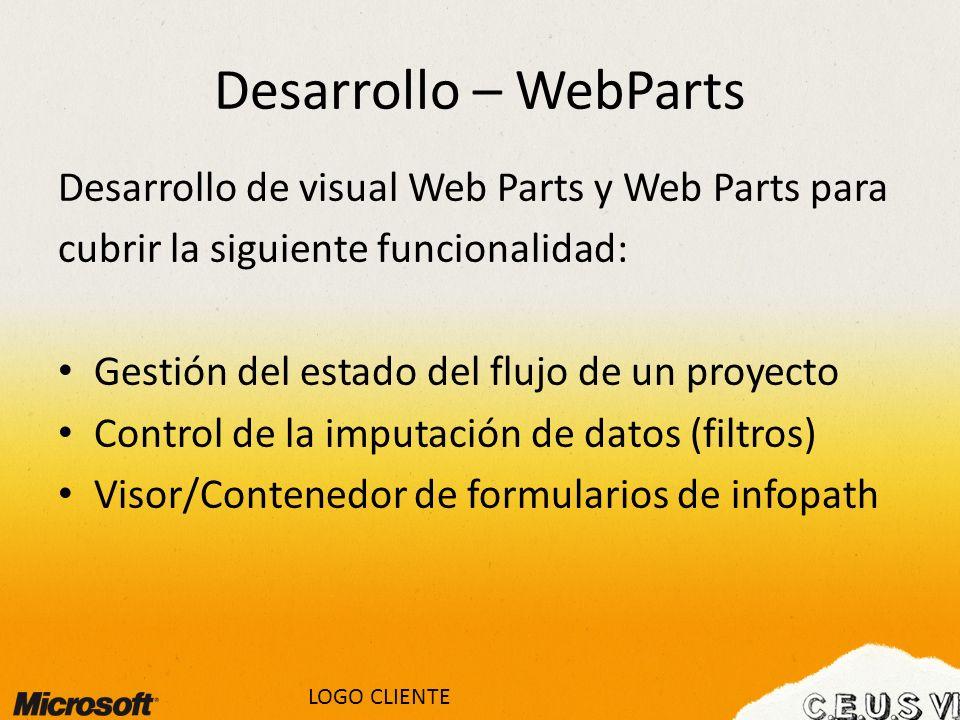 Desarrollo – WebParts Desarrollo de visual Web Parts y Web Parts para