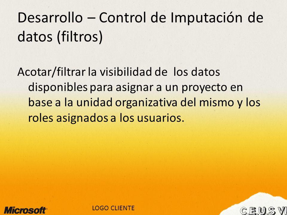 Desarrollo – Control de Imputación de datos (filtros)
