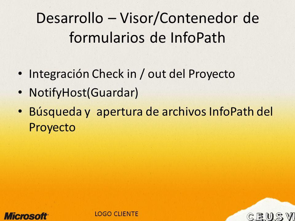 Desarrollo – Visor/Contenedor de formularios de InfoPath