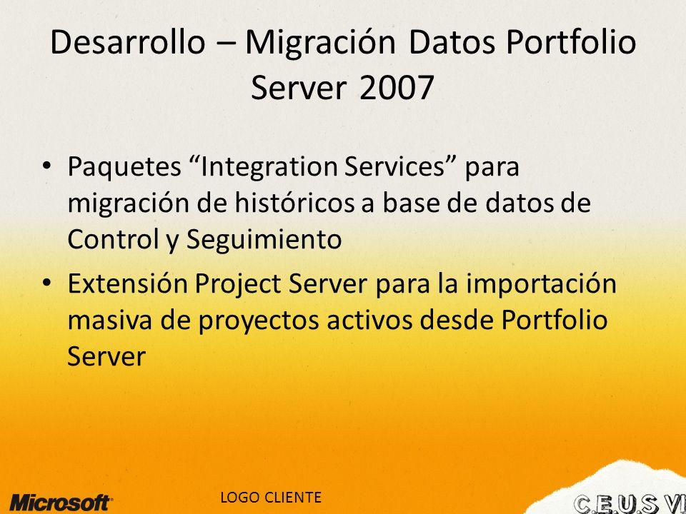 Desarrollo – Migración Datos Portfolio Server 2007