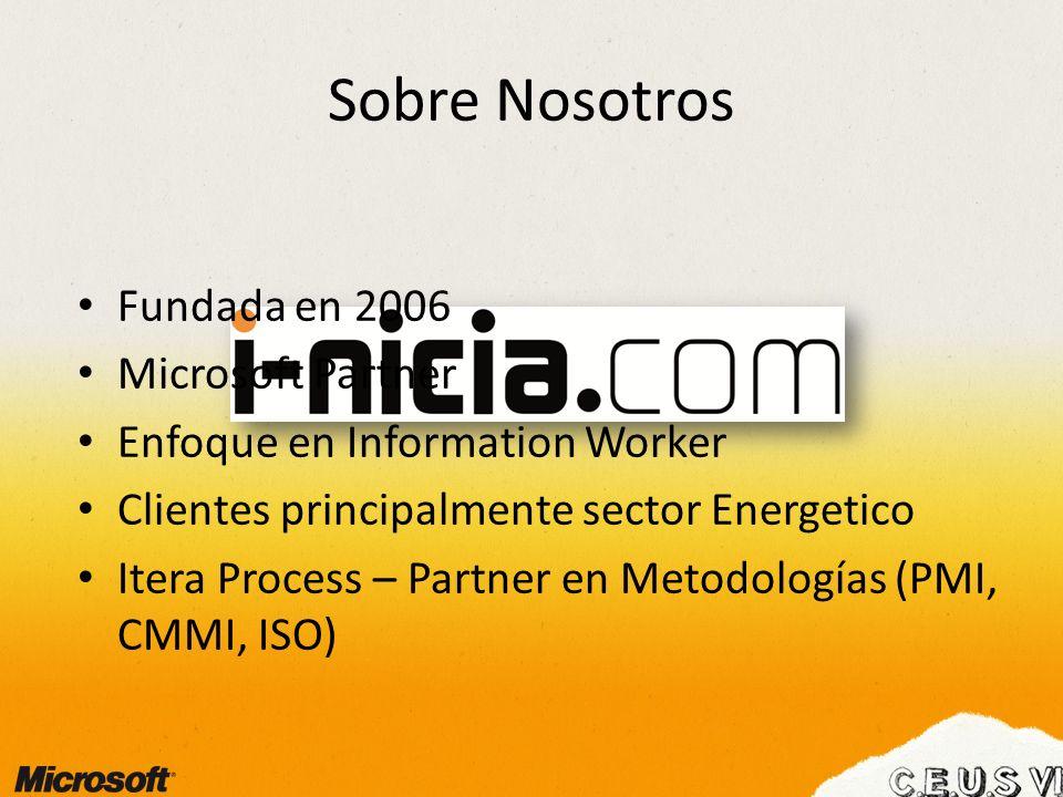 Sobre Nosotros Fundada en 2006 Microsoft Partner
