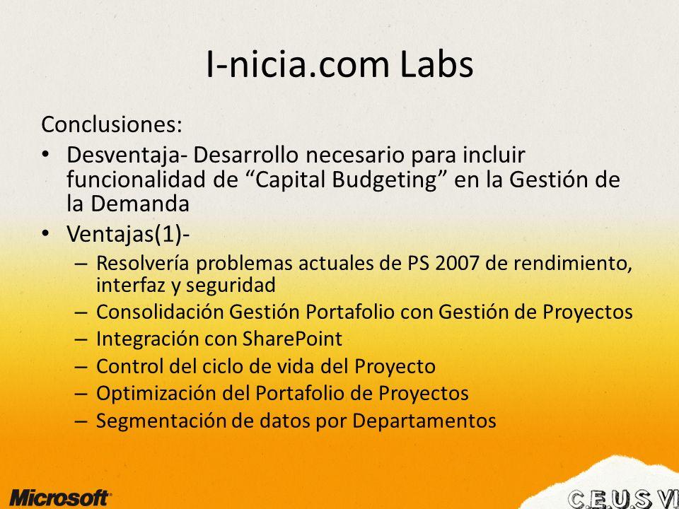 I-nicia.com Labs Conclusiones: