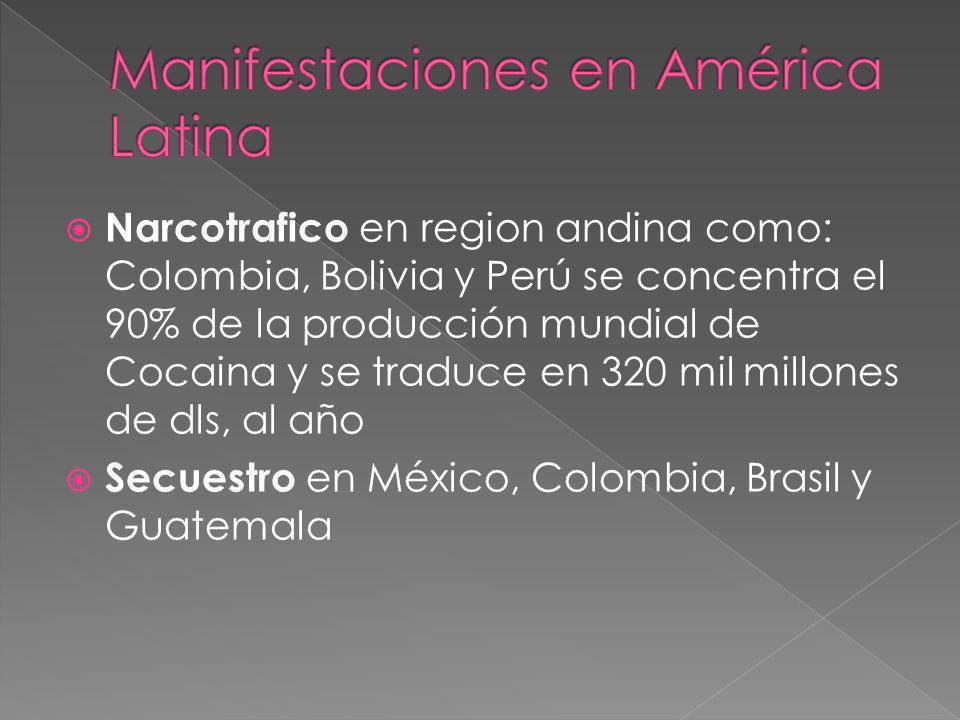 Manifestaciones en América Latina