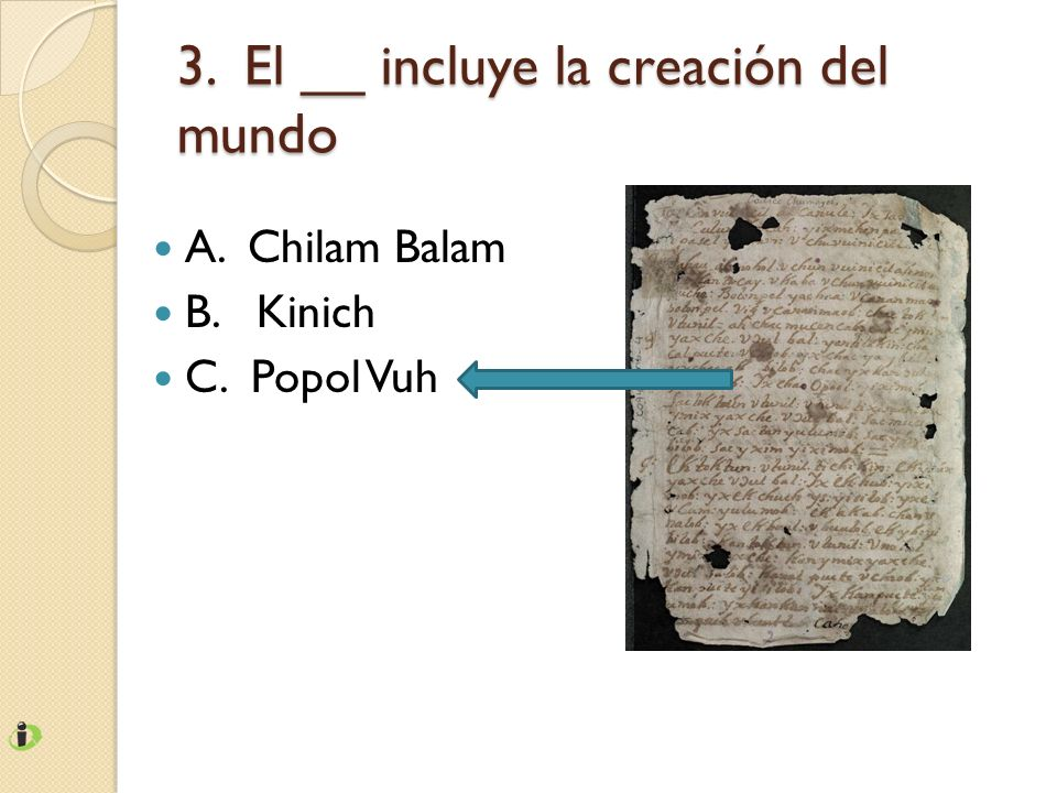 3. El __ incluye la creación del mundo