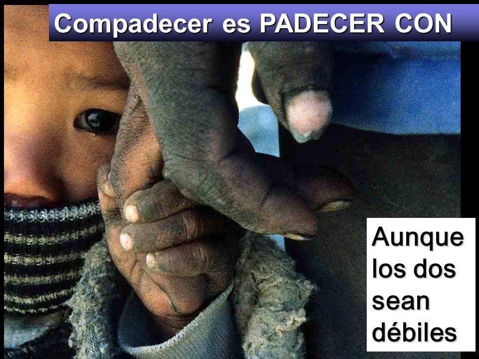 Compadecer es PADECER CON