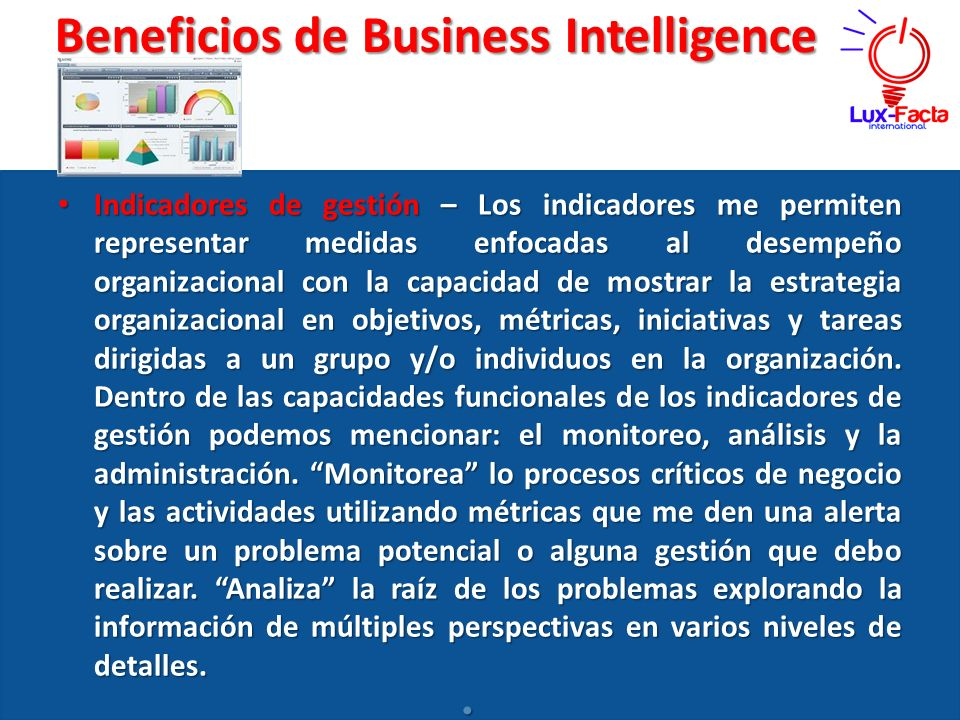 Beneficios de Business Intelligence