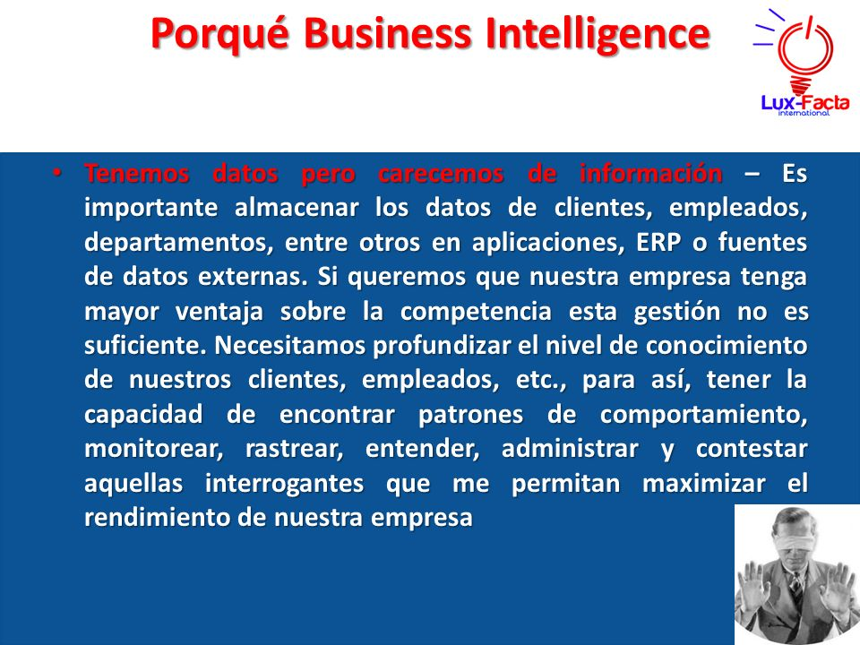 Porqué Business Intelligence