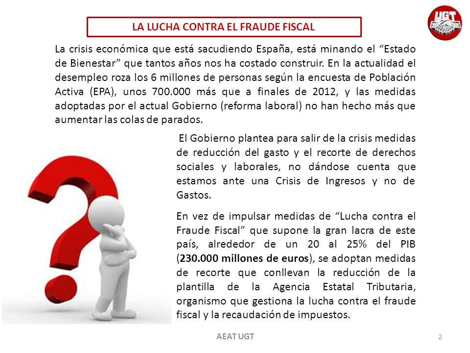 LA LUCHA CONTRA EL FRAUDE FISCAL