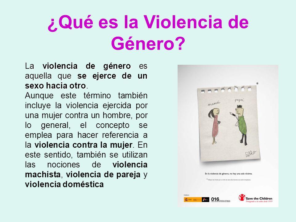 ¿Qué es la Violencia de Género