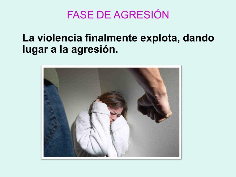 La violencia finalmente explota, dando lugar a la agresión.