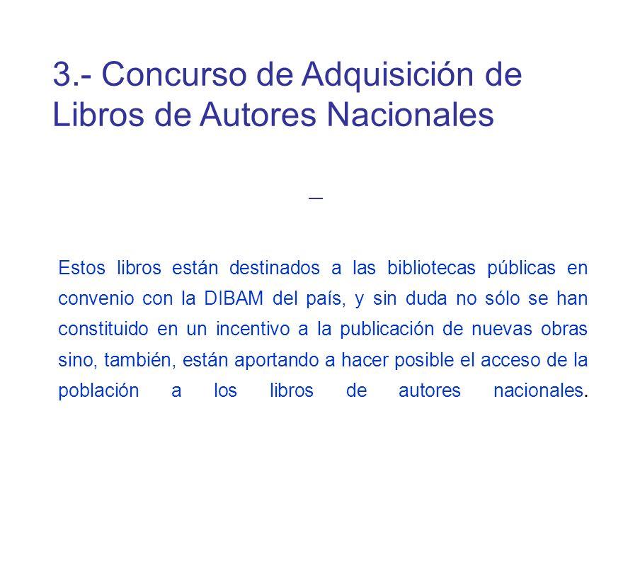 3.- Concurso de Adquisición de Libros de Autores Nacionales