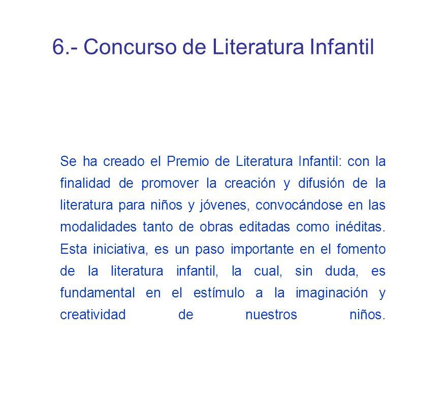 6.- Concurso de Literatura Infantil