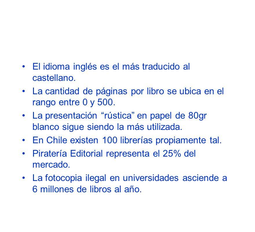 El idioma inglés es el más traducido al castellano.