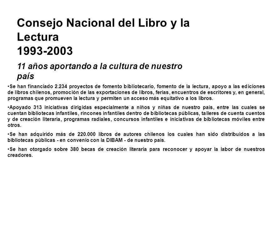 Consejo Nacional del Libro y la Lectura 1993-2003