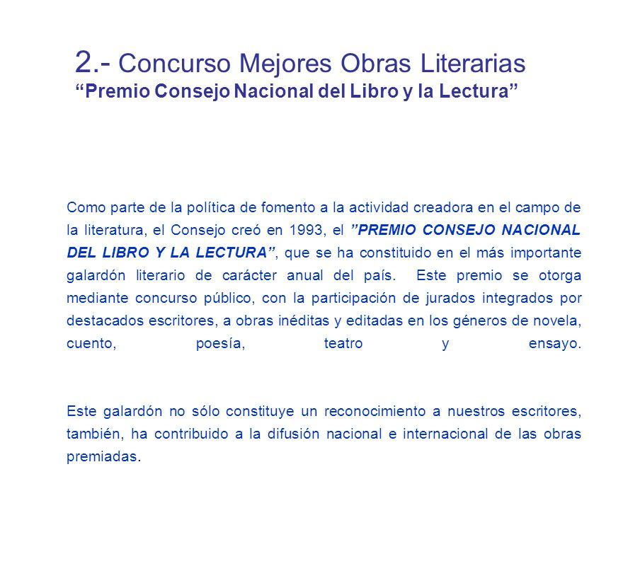 2.- Concurso Mejores Obras Literarias