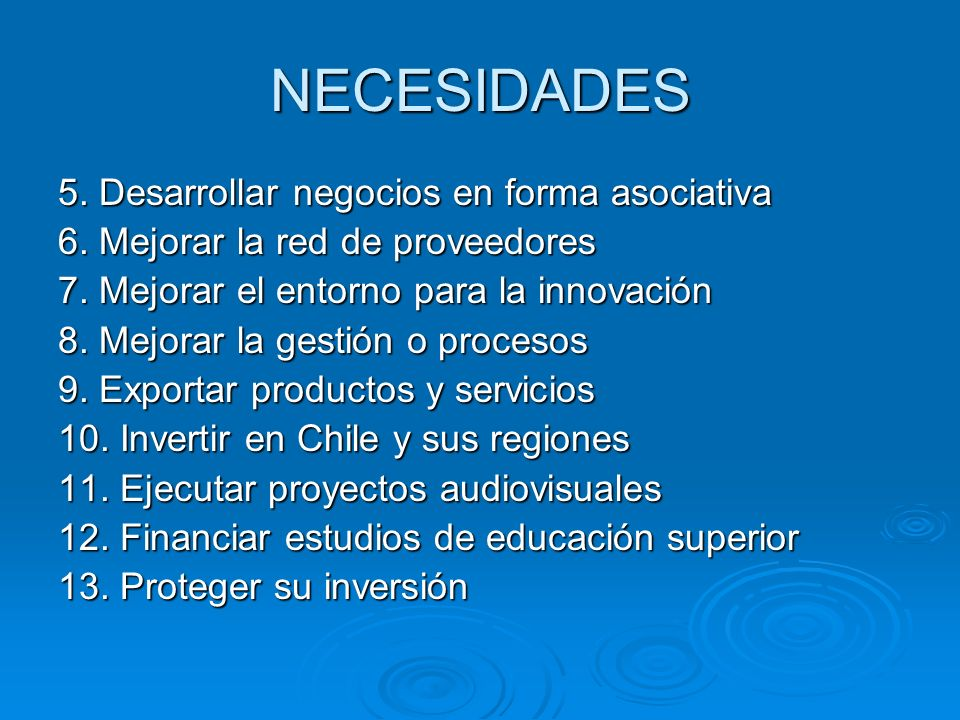 NECESIDADES 5. Desarrollar negocios en forma asociativa