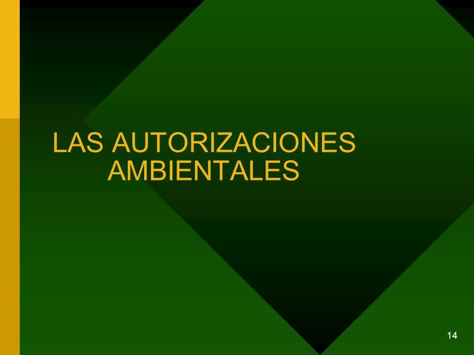 LAS AUTORIZACIONES AMBIENTALES