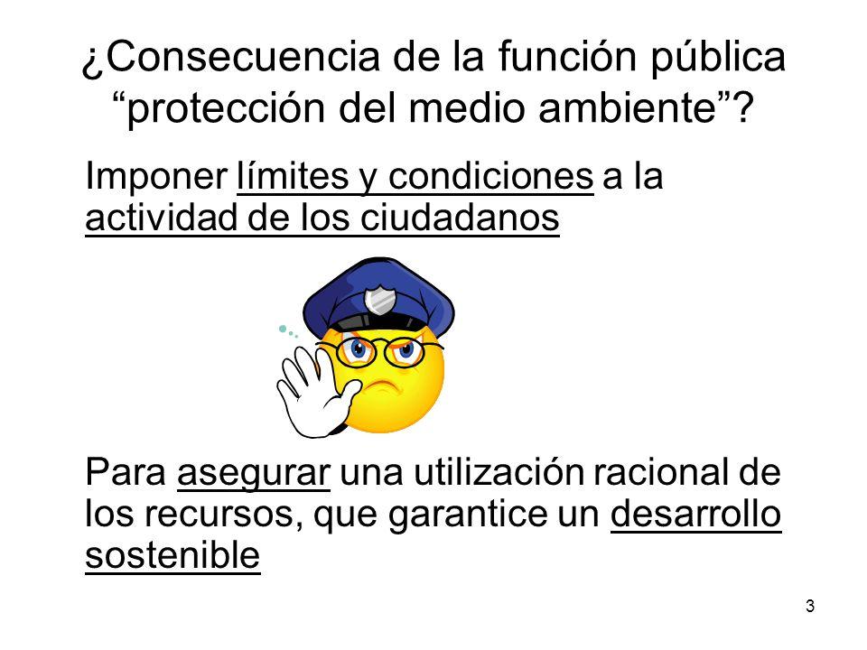 ¿Consecuencia de la función pública protección del medio ambiente