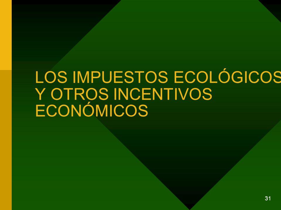 LOS IMPUESTOS ECOLÓGICOS Y OTROS INCENTIVOS ECONÓMICOS