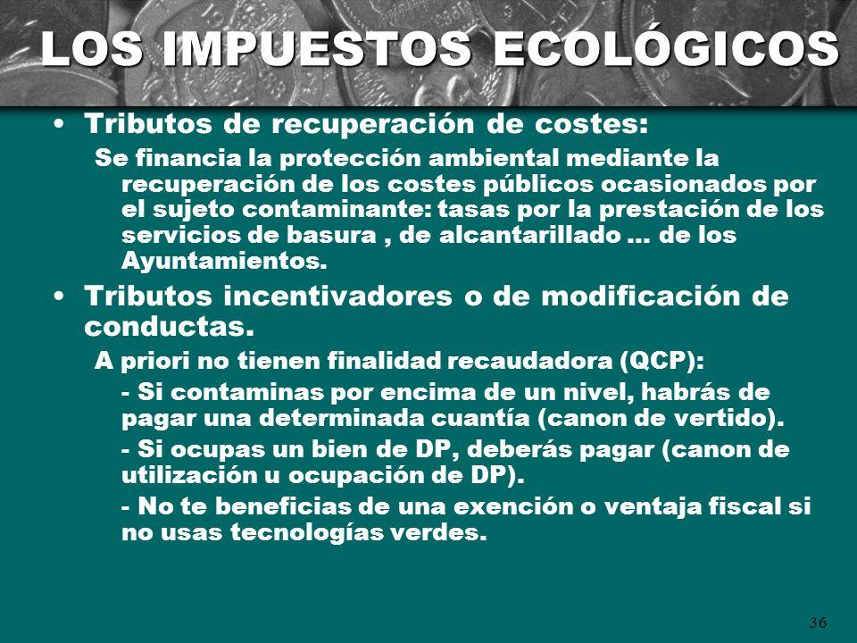 LOS IMPUESTOS ECOLÓGICOS