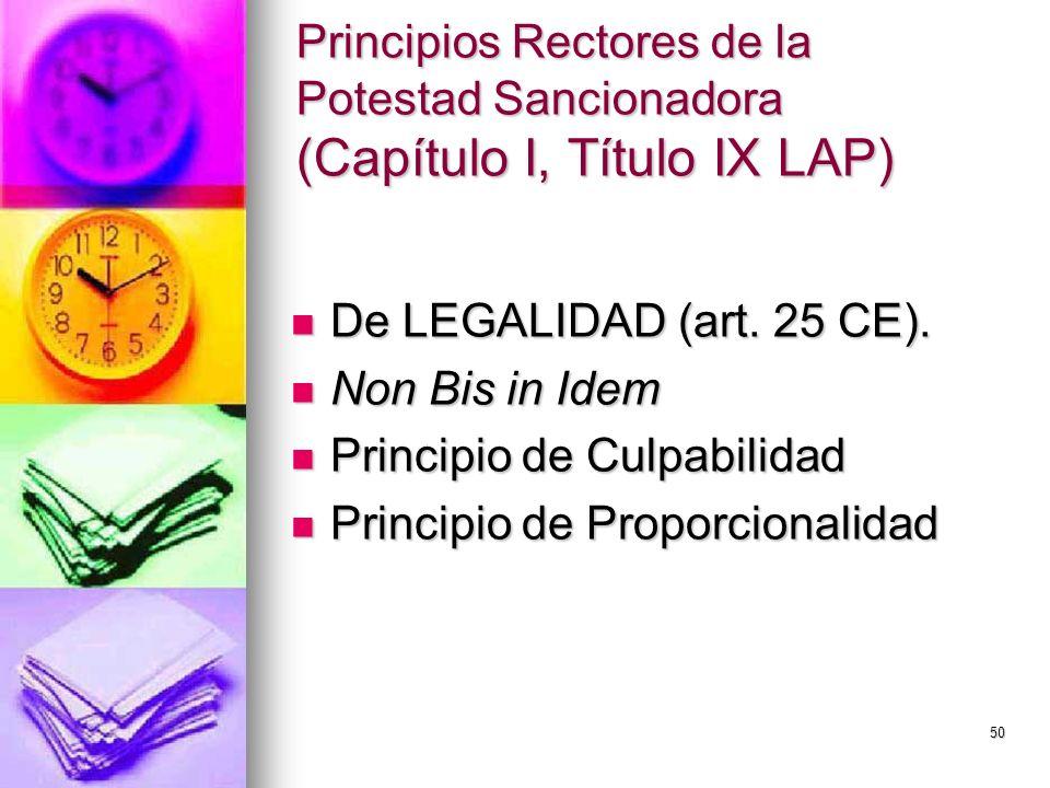 Principios Rectores de la Potestad Sancionadora (Capítulo I, Título IX LAP)